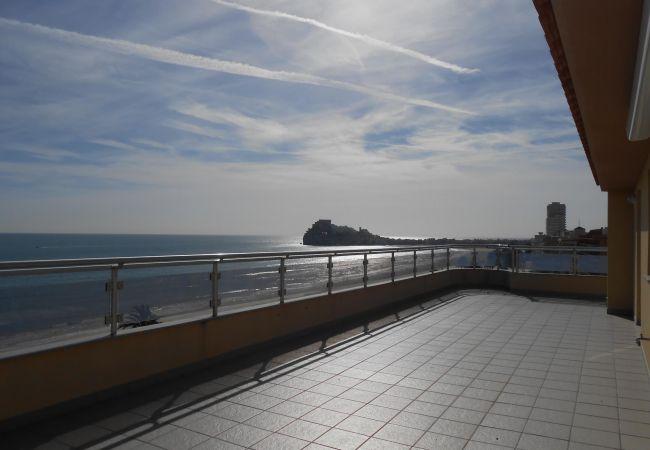 Apartamento en Peñiscola - Ático con preciosas vistas y gran terraza