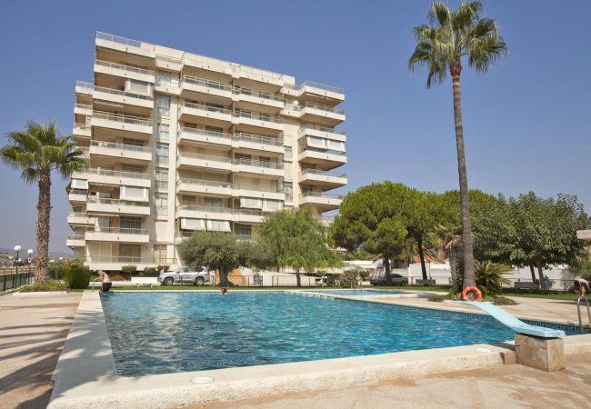 Appartement à Peñiscola - Appartement à 3 chambres, prés de la plage, avec parking et piscine